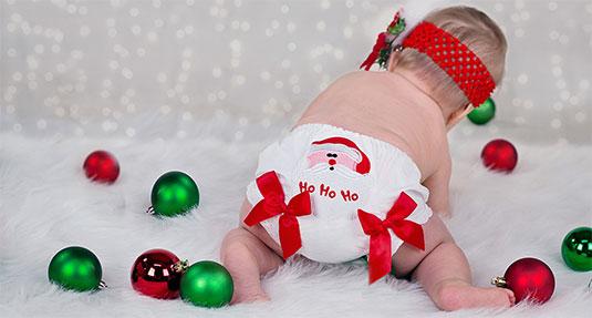 Jingle Bells kan niet als kindernaam, maar een kerstmanluier is op het randje.