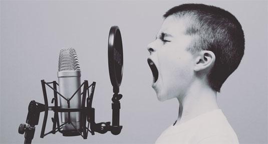 Niet elk kind heeft zangtalent.